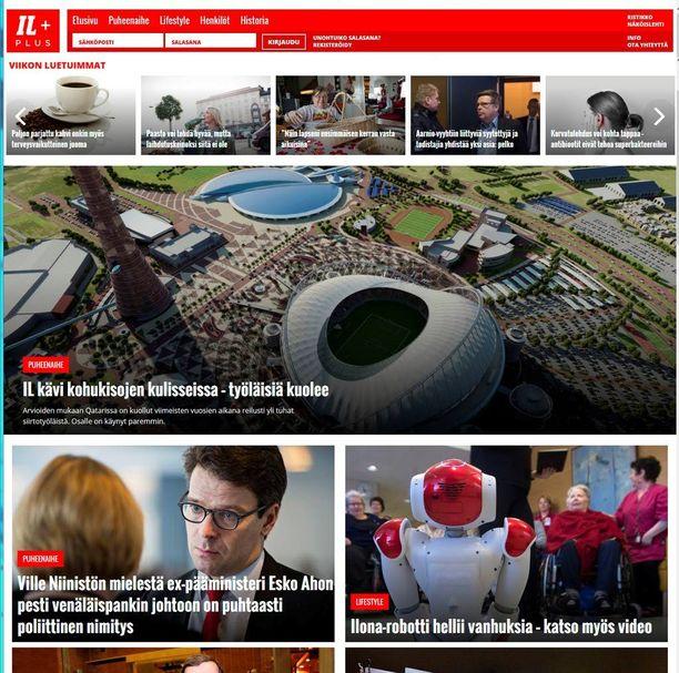 Iltalehden uusi Plus-palvelu eli Plussa sisältää myös näköislehden.