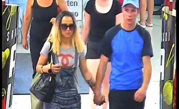 Poliisi julkaisi myymälävarkauksista epäiltyjen henkilöiden kuvat.