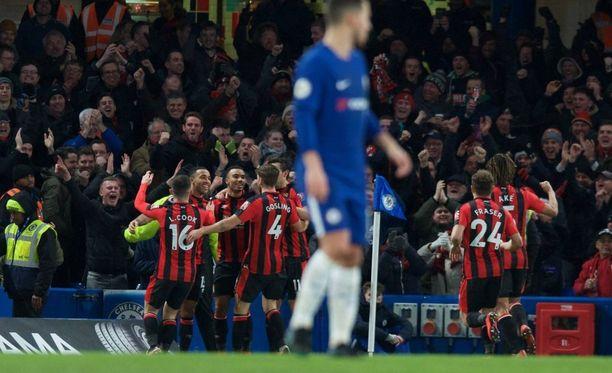 Bournemouth käytti vastaiskunsa tehokkaasti ja jätti Chelsean nollille Lontoossa.