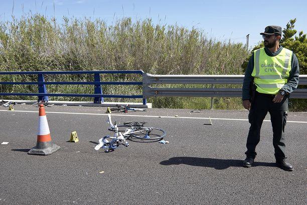 Samalla seudulla tapahtui myös toukokuussa vakava kolari, jossa kuoli kolme ja loukkaantui kaksi pyöräilijää. Arkistokuva.