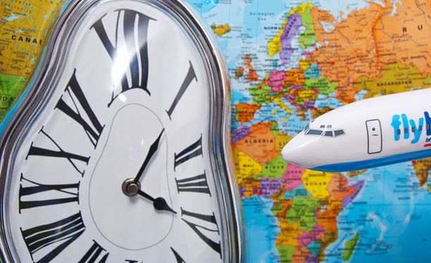 Aikavyöhykkeiden yli matkaaminen voi sotkea sisäisen kellon.