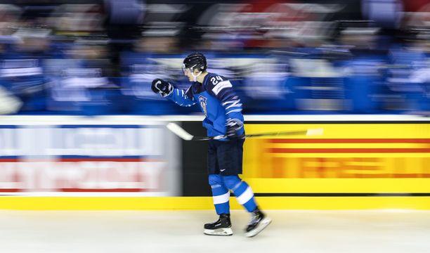 Kaapo Kakko teki perjantaina Suomen turnauksen avausmaalin.