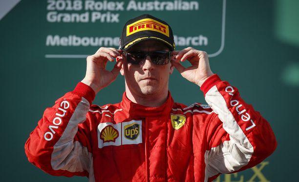 Kimi Räikkönen ajoi väkevästi Australian avauskisassa.