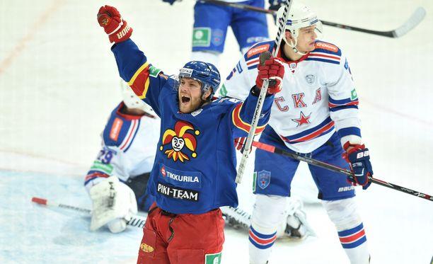 Linus Omark ja Jokerit kohtaavat sunnuntaina Pietarissa SKA:n.