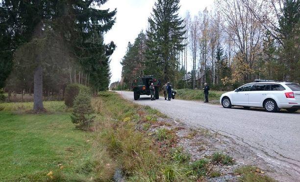 Poliisilla oli useita tunteja kestänyt operaatio Viitasaarella lauantaina.