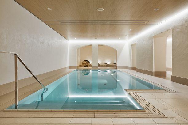 Tiloista löytyy kylpylä, jossa on mahdollista myös saunoa.