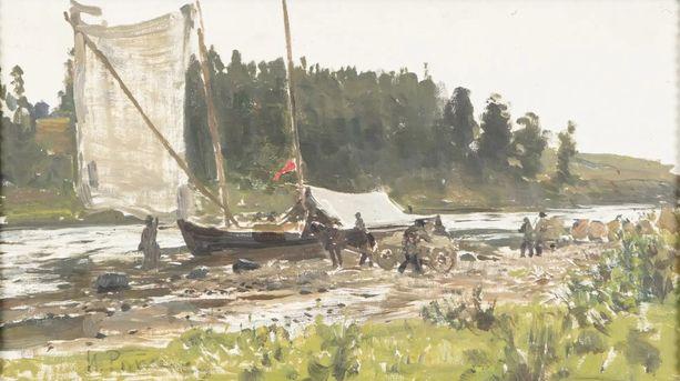 Kopponen löysi tämän Ilja Repinin teokseksi väitetyn taulun maalaishuutokaupasta. Se myytiin 22 000 eurolla vuosi sitten.