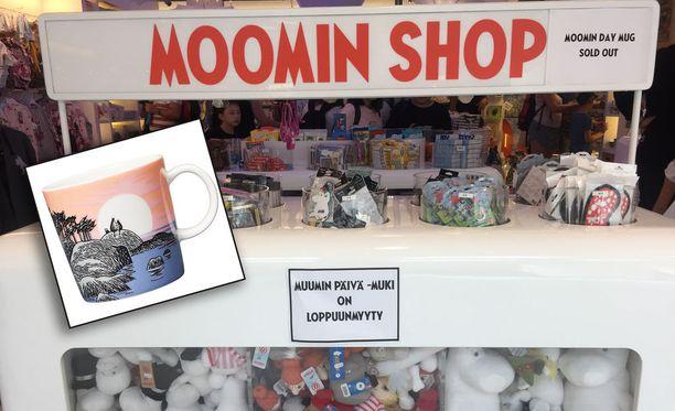 Tove Janssonin syntymäpäivän kunniaksi myynnissä olleet Muumin päivä -mukit menivat kaupaksi ennätystahtia.