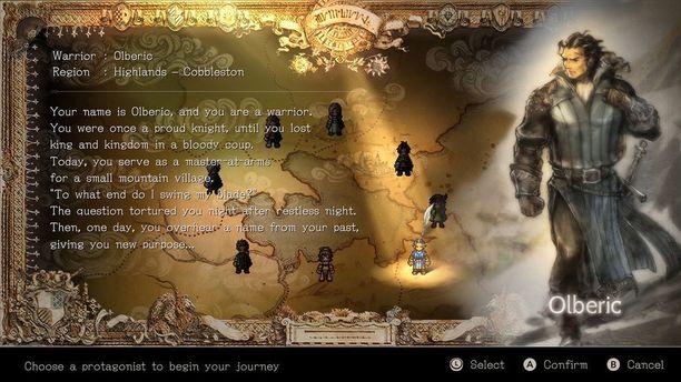 Alussa valittavana on kahdeksan erilaista hahmoa.