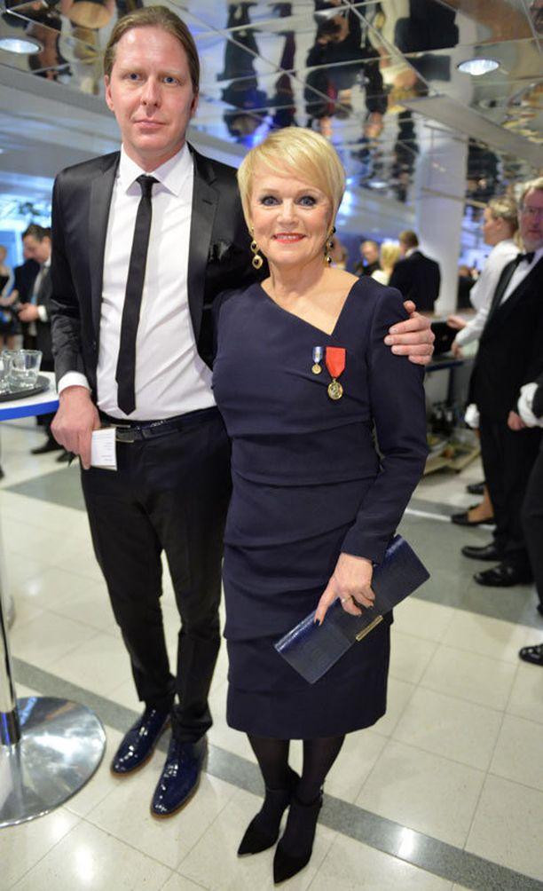 Laulaja Katri Helena ja manageri Tommi Liimatainen.