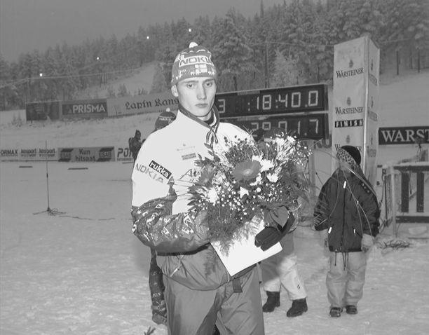 Hannu Mannisella on pitkä ura. Kuva vuodelta 1997 Rovaniemeltä.