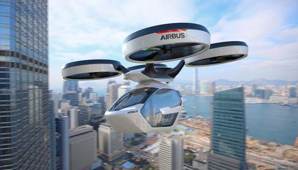 Tältä näyttäisi Airbus- kapseli ilmassa. Testilentoja on luvattu jo tälle vuodelle.
