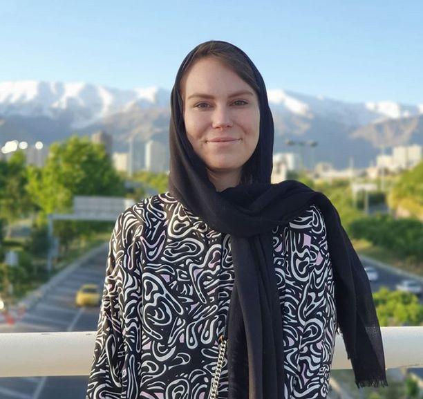 Salla Kivekäs vietti kevään Iranissa.