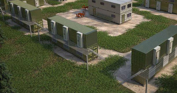 Suunnitelmissa on konteista rakennettuja kerrostaloja.