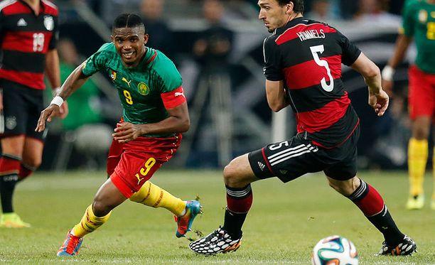 Samuel EtoŽo on Kamerunin tärkein pelaaja.