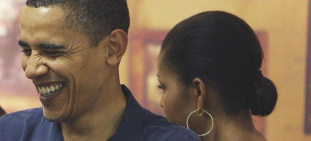 Havaijilla Michelle piti tukkansa tiukasti nutturalla.
