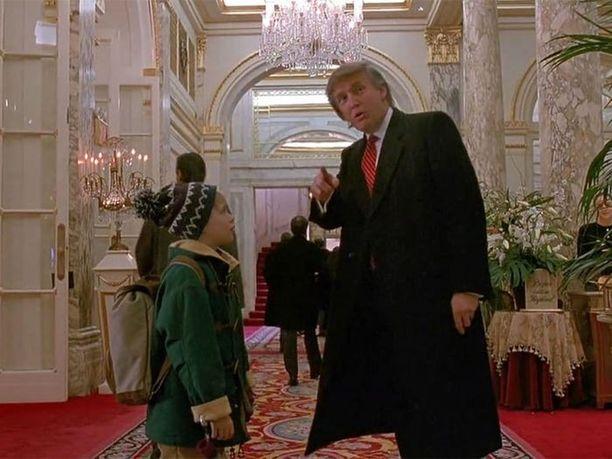 Tämä kohtaus Yksin kotona 2 -elokuvassa on kenties yksi Trumpin mieleenpainuvimmista.