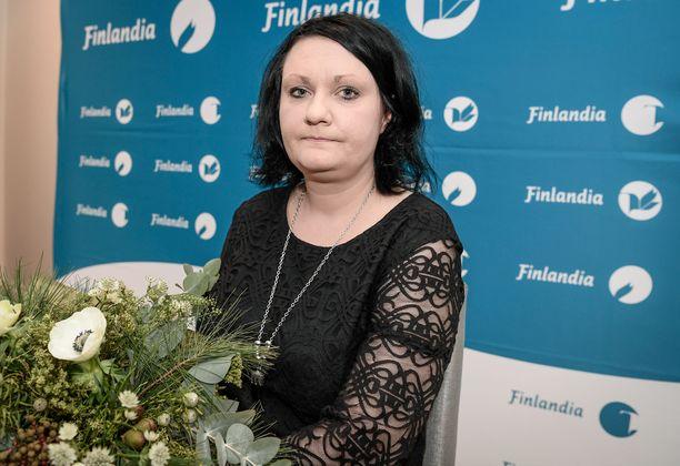 Kirjailija Hanna Hauru oli vuonna 2017 ehdolla kaunokirjallisuuden Finlandia-palkinnon saajaksi.