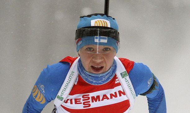 Kaisa Mäkäräinen tähtää palkintopallille olympialaisissakin.