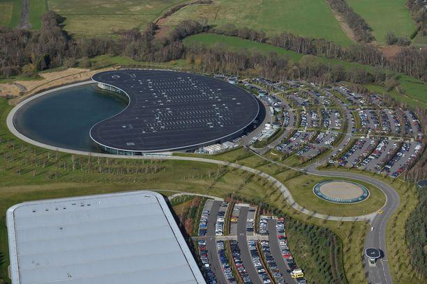 McLaren MTC ylhäältä päin kuvattuna.