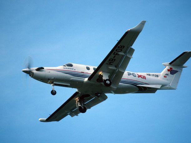 Kuvituskuva Pilatus PC-12 -lentokoneesta.