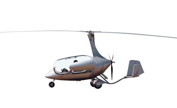 Kuvituskuvassa gyrokopteri.