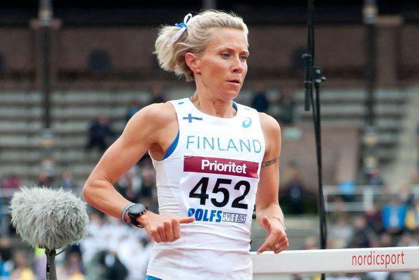 Anne-Mari Hyryläinen joutui jättämään EM-kisat väliin jalkavamman takia.