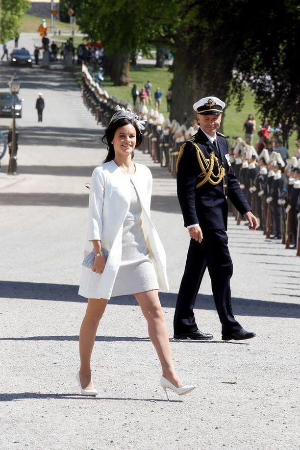 Sofia oli kutsuttuna prinsessa Leonoren ristiäisissä kesäkuussa 2014.