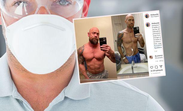 Mike Schultzin kroppa muuttui täydellisesit kuuden viikon pakkolevon aikana.