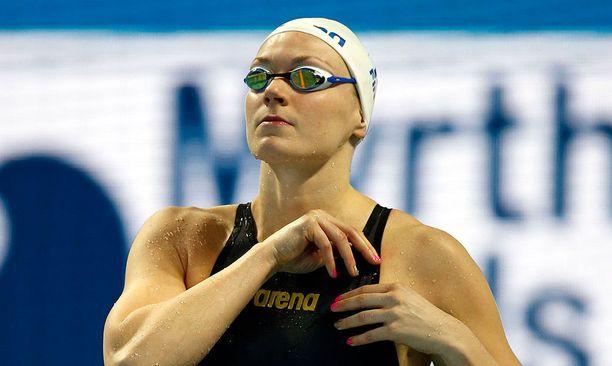 Jenna Laukkasella on kaksi EM-kultaa (lyhyt rata) ja kaksi EM-pronssia (pitkä rata).