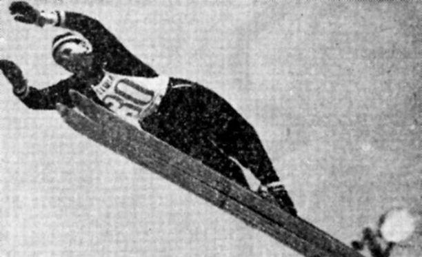 Matti Pietikäinen hyppäsi maailmanmestariksi vuonna 1955.
