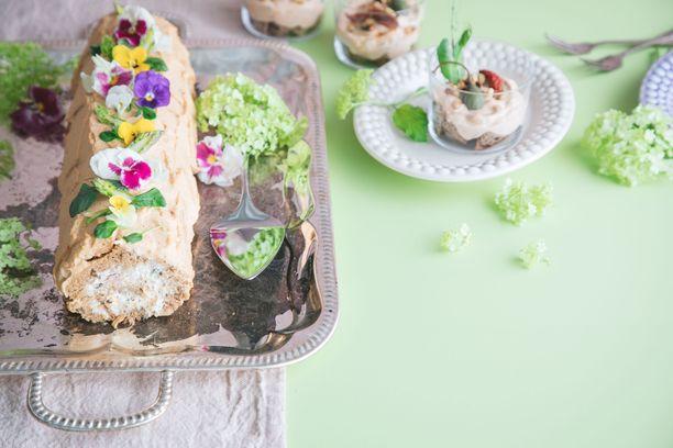 Syötävillä kukkasilla tuot väriä koristeluun.