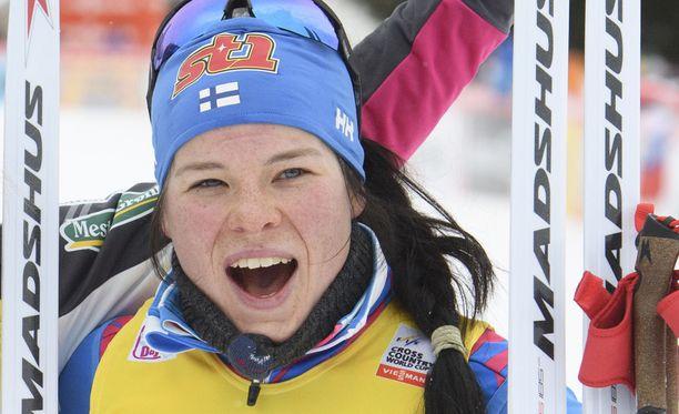 Krista Pärmäkoski on matkalla huippukauteen.