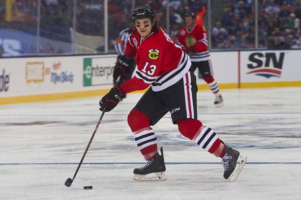 Valokuvanäyttelyssä nähtävä Daniel Carcillo voitti kaksi Stanley Cupia NHL-urallaan.