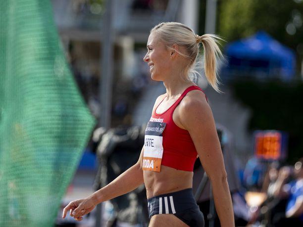 Annimari Korte voitti uransa ensimmäisen SM-kullan perjantaina Turussa.
