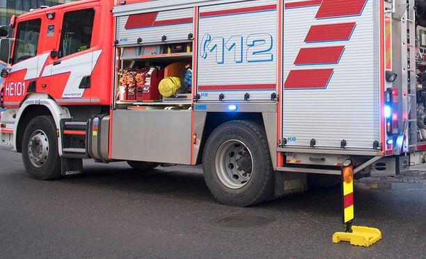 Palomestari kiittelee henkilökunnan ripeää toimintaa. Arkistokuva.