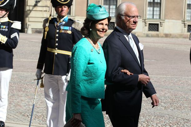Kuningatar Silvia ja kuningas Kaarle Kustaa.