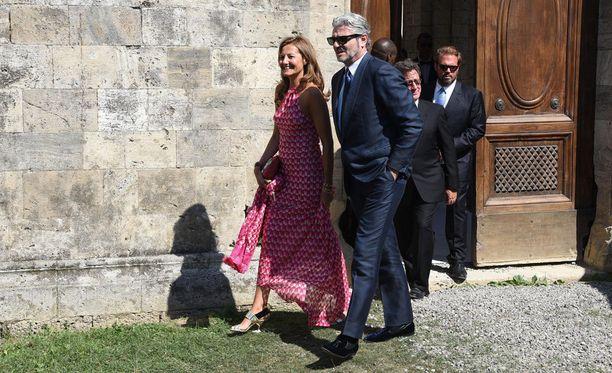 Vieraiden joukossa oli muun muassa Ferrari-pomo Maurizio Arrrivabene vaimonsa kanssa.