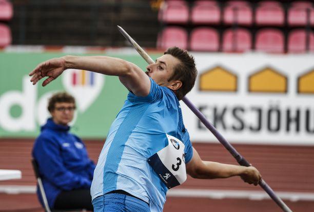 Antti Ruuskanen kilpaili kaudella 2020 vain kahdesti. Ruotsi-ottelussa syyskuun alussa Tampereella keppi lensi 78,84.