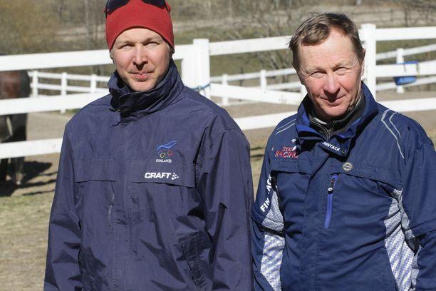 Hannu-Pekka Korpi ehti työskennellä parikymmentä vuotta isänsä Pekka Korven aisaparina tämän ravitallilla.