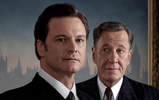 Colin Firth esittää Yrjöä ja Geoffrey Rush hänen puheterapeuttiaan.