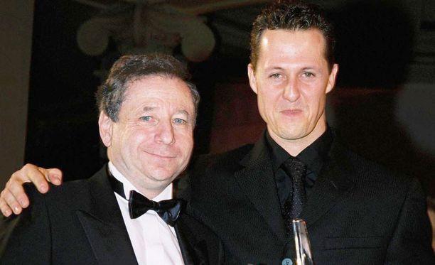 Jean Todt ja Michael Schumacher muodostivat Ferrarin voimakaksikon 2000-luvun alussa.