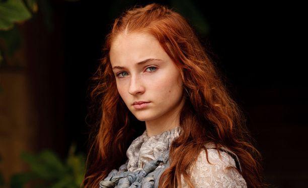 Sansa Stark Game of Thronesin ensimmäisellä tuotantokaudella.