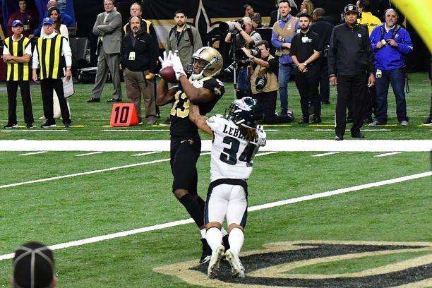 New Orleans Saints ja Philadelphia Eagles kohtasivat sunnuntaina. Saints eteni voitolla NFL:n välieriin, jossa se kohtaa Los Angeles Ramsin.
