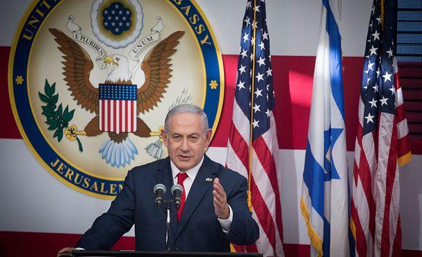 Israelin pääministeri Benjamin Netanjahu osallistui Yhdysvaltojen uuden lähetystön avajaisiin Jerusalemissa.