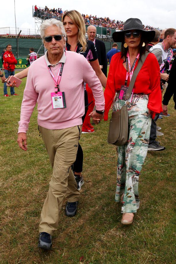 Michael Douglas ja Catherine Zeta-Jones viettivät viikonloppua Lontoossa.