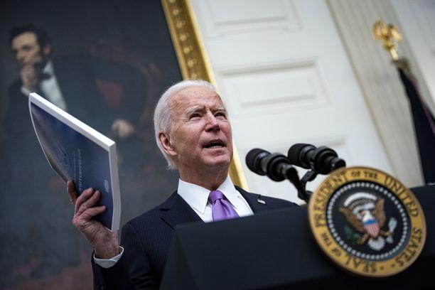 Yhdysvaltain presidentti Joe Biden puhui perjantaina Münchenin turvallisuuskonferenssissa.