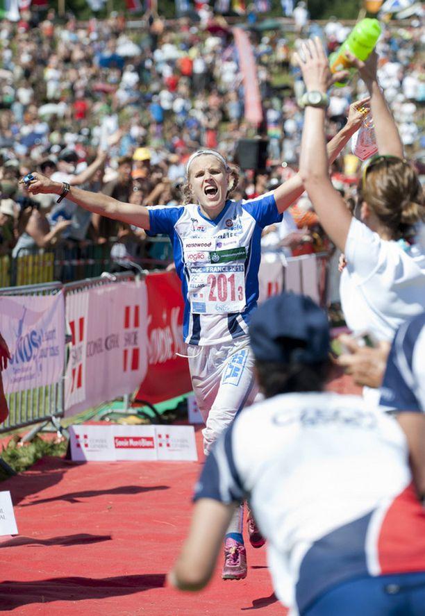 Minna Kauppi oli Suomen sankari lauantain viestissä.