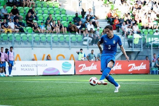 Nicolo Zaniolo iski Italian ja ottelun ainoan maalin läpiajosta.