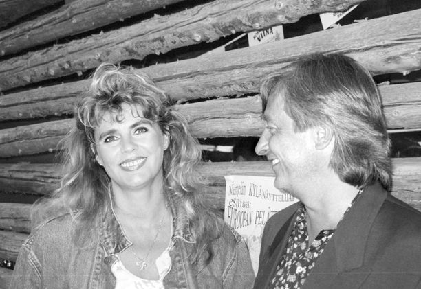 Riitta Kuninkuusraveissa yhdessä Ekinsä eli Erik Mäkkylän kanssa vuonna 1997.